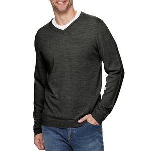 V-Neck Merino Wool Sweater